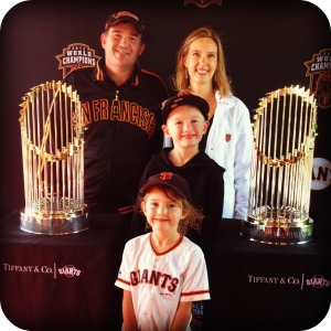 Family Picture with the World Series Trophies